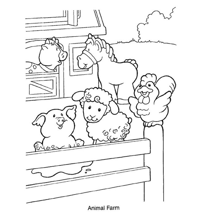 Farm Animal Coloring Pages For Preschool Printable