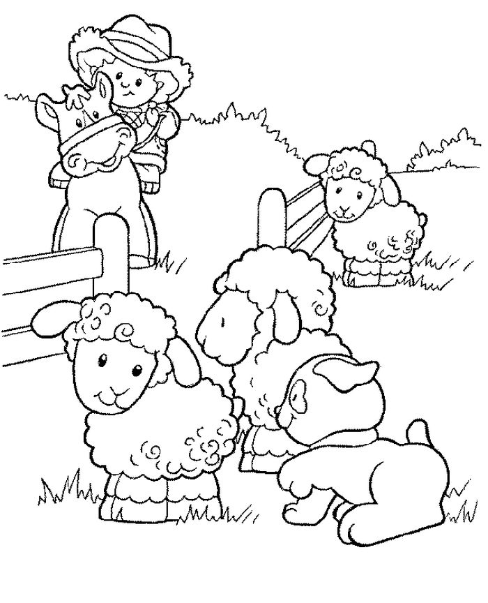 Farm Animal Thank You Coloring Pages