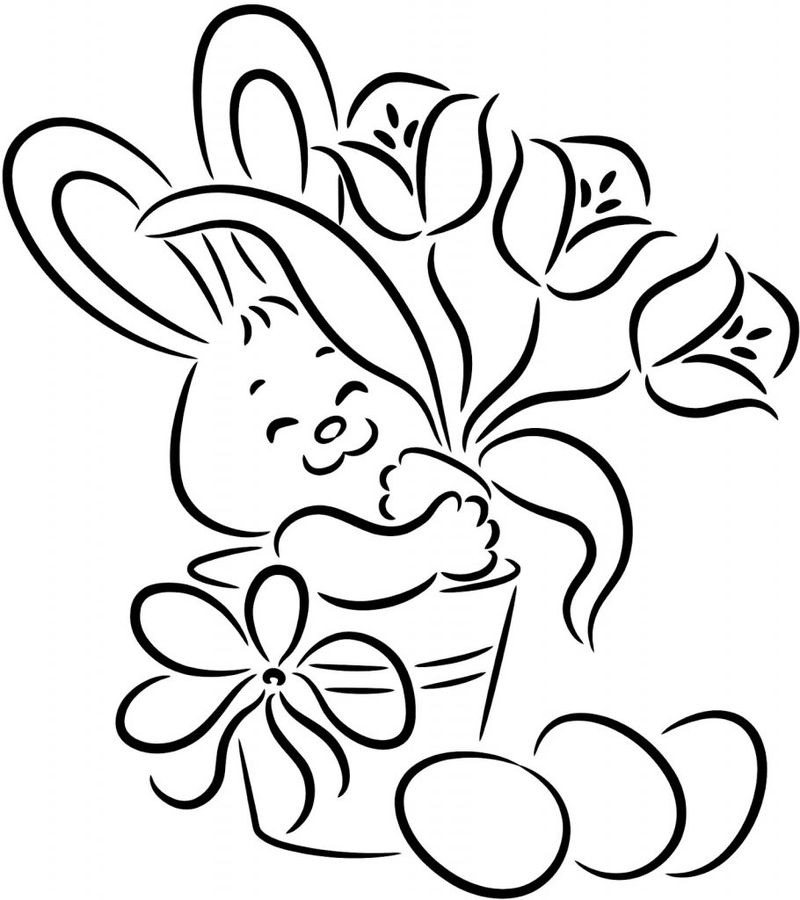 Free Bunny Coloring Pages To Print