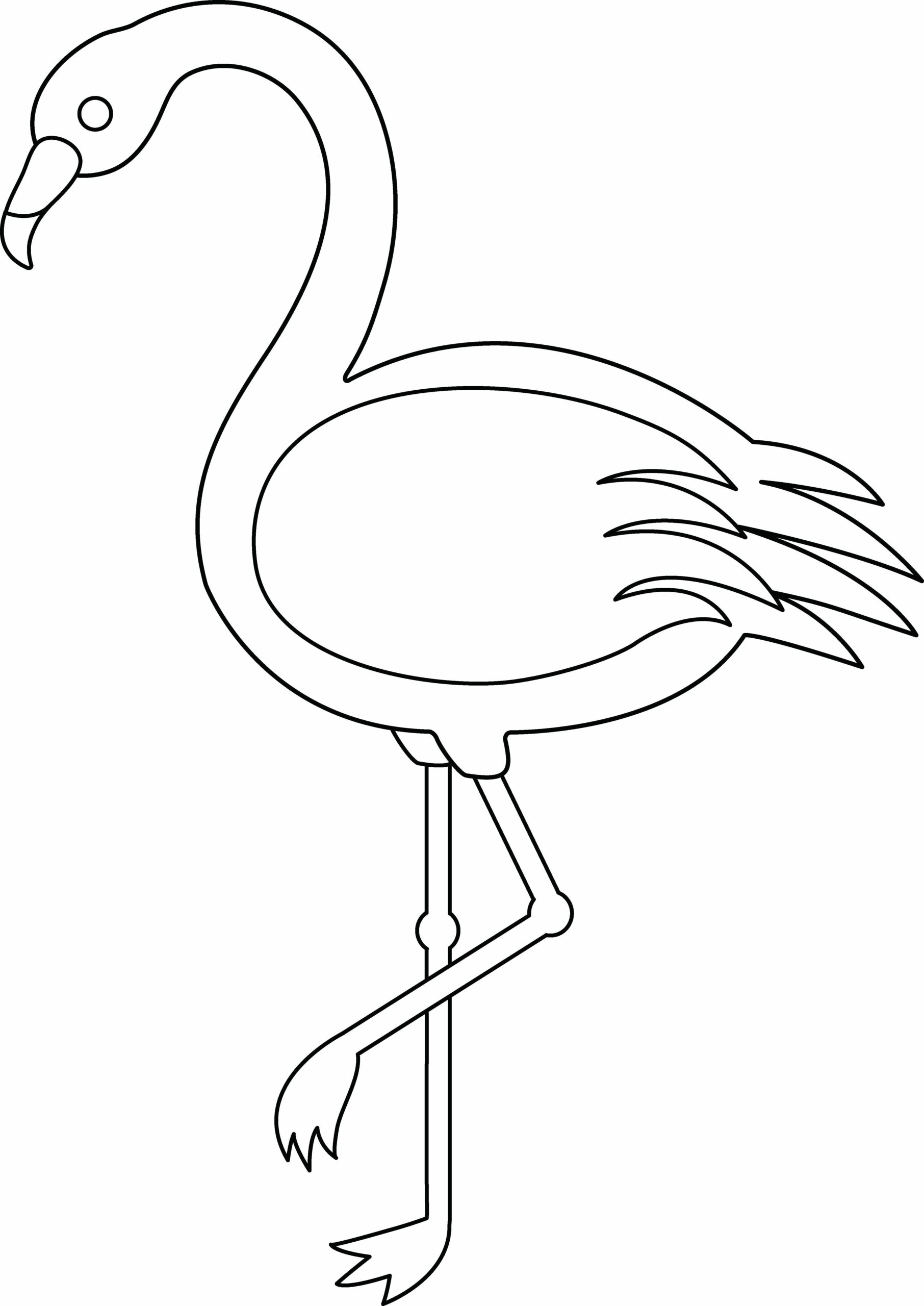 Free Coloring Pages Flamingo