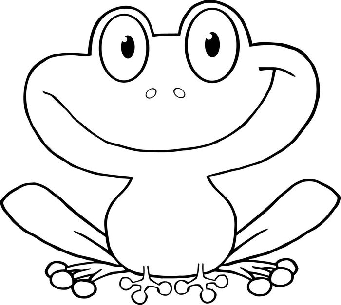 Free Frog Coloring Pages