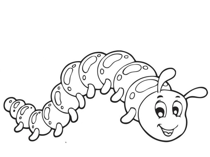 Free Printable Caterpillar Coloring Pages