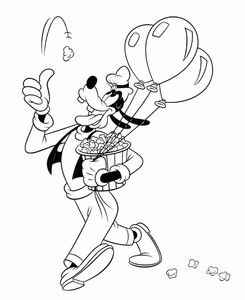 Free Printable Coloring Pages Goofy