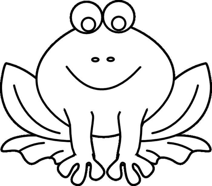 Frog Coloring Pages For Preschool