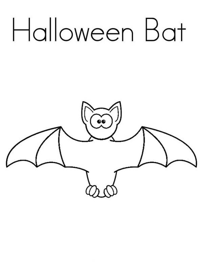 Halloween Coloring Pages Cute Bat