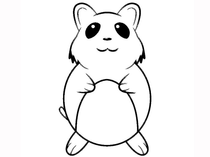 Hamster Coloring Pages Eaesy