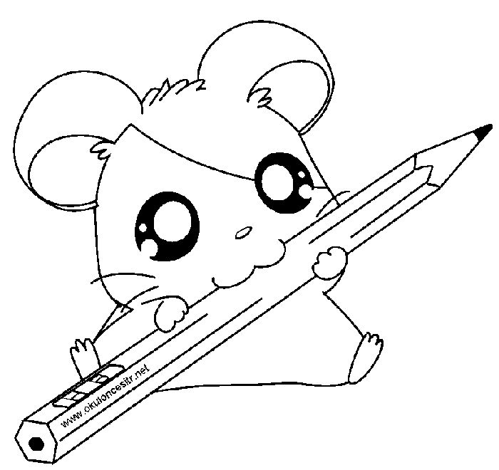 Hamster School Coloring Pages