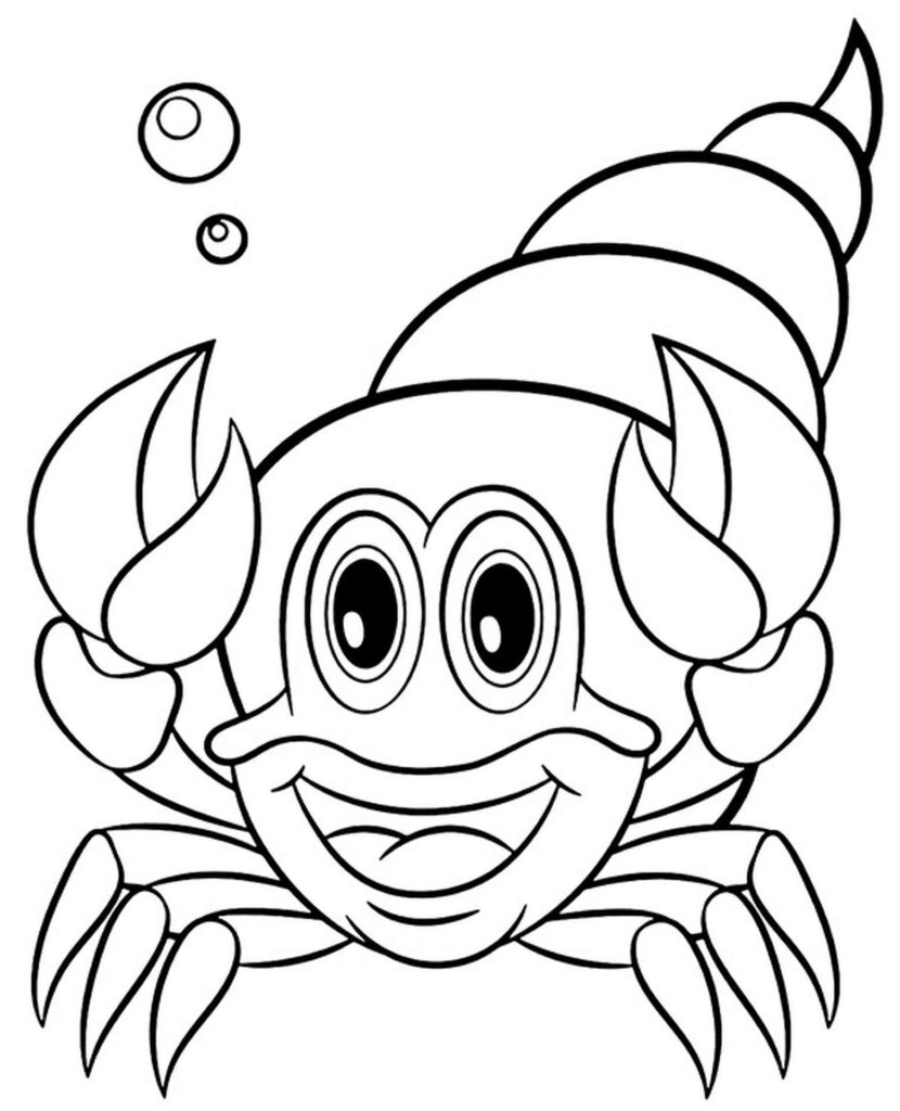 Hermit Crab Coloring Pages
