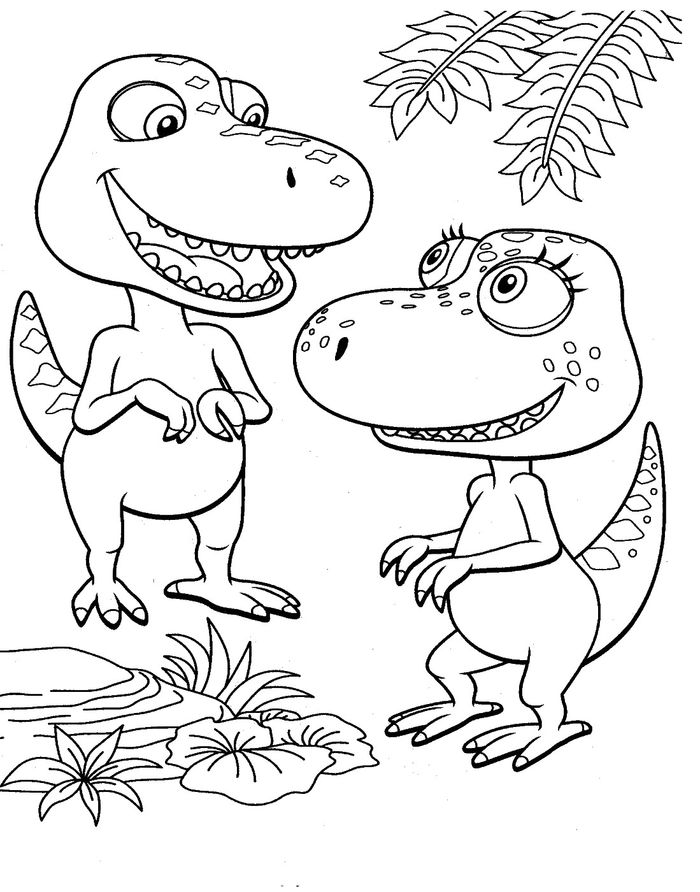 How Do Dinosaurs Go To School Coloring Pages