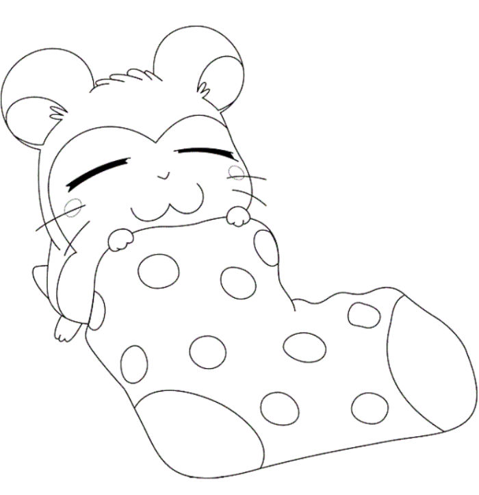 Japanese Hamster Coloring Pages