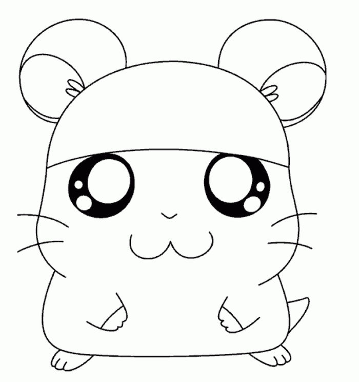 Japanese Very Detailed Hamster Coloring Pages