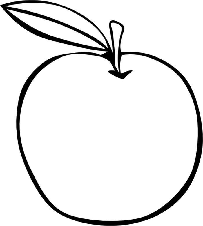 Large Apple Coloring Pages