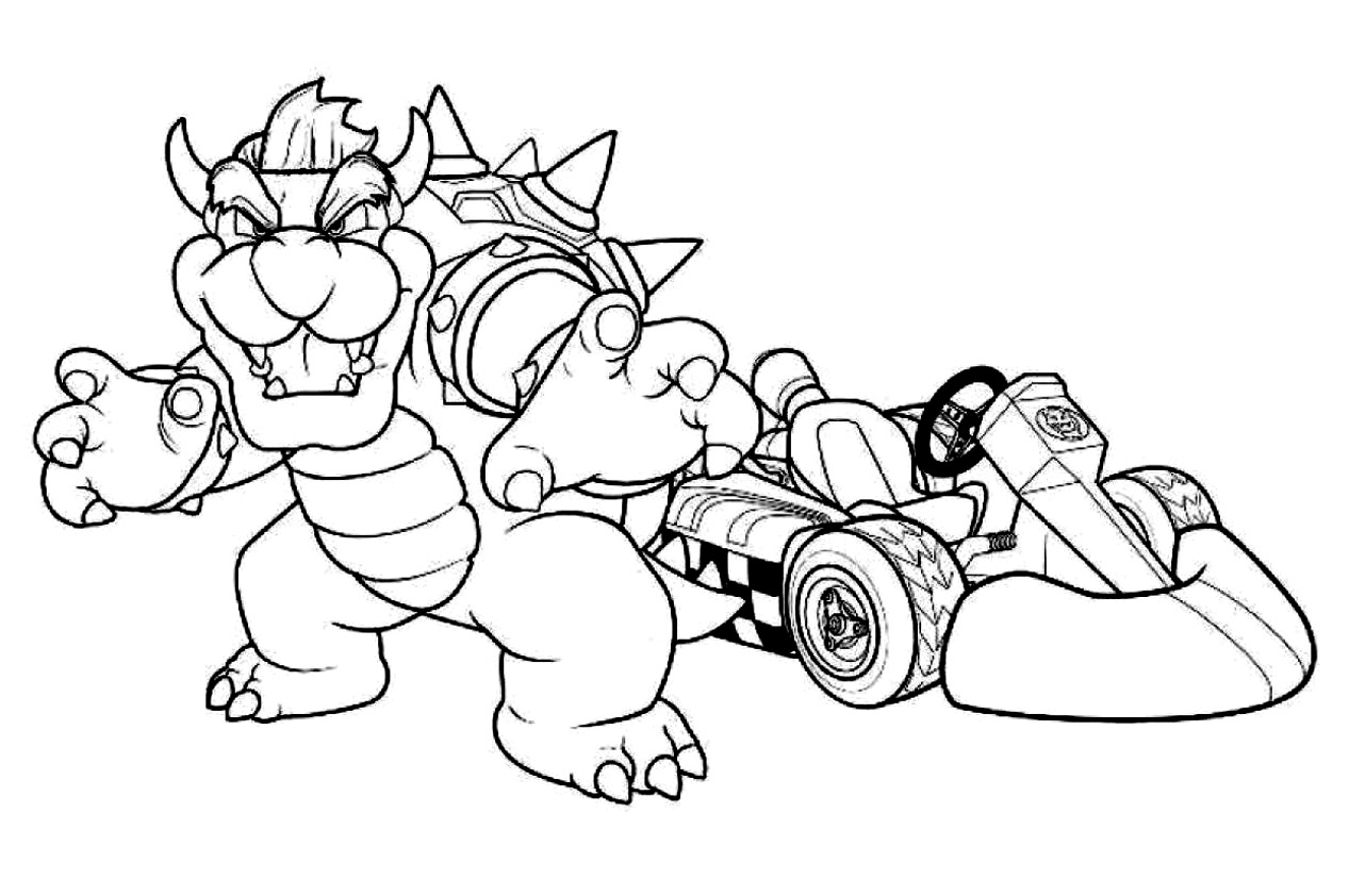 Mario Kart 8 Deluxe Coloring Pages