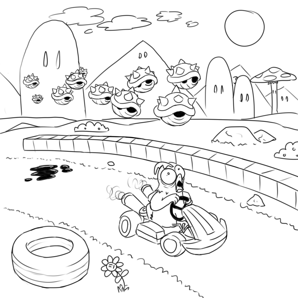 Mario Kart Printable Coloring Pages
