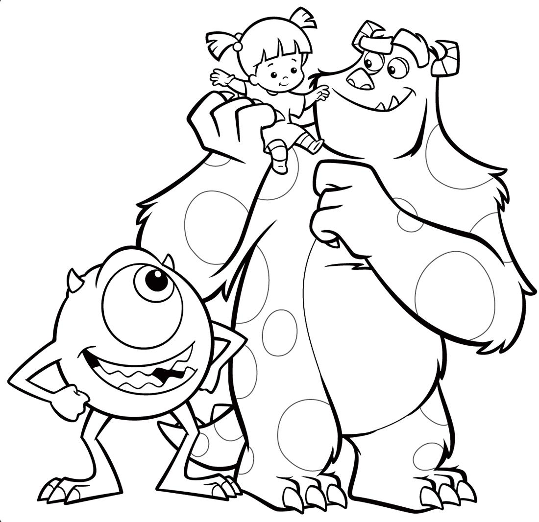 Monsters Inc Coloring Pages Free