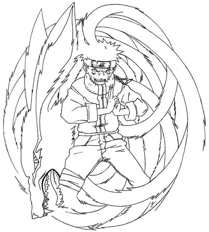 Naruto Nine Tails Coloring Pages