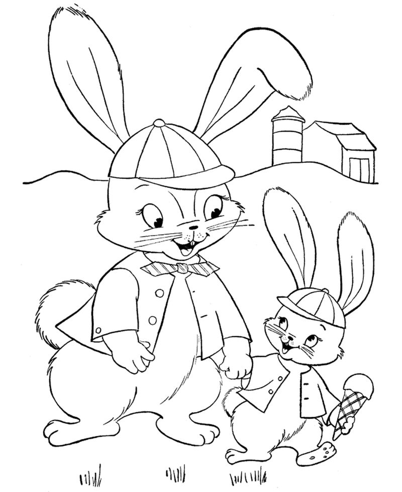 Print Free Bunny Coloring Page