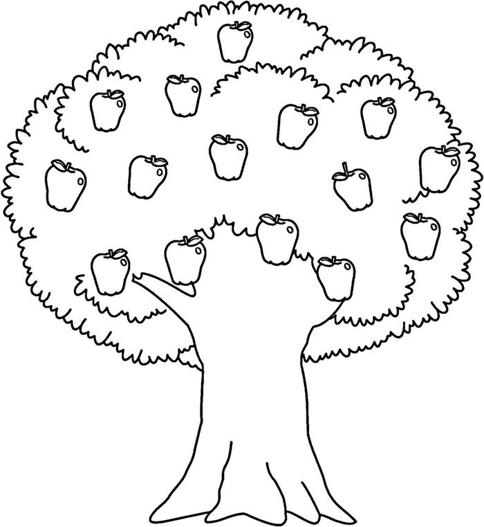 Printable Apple Tree Coloring Pages