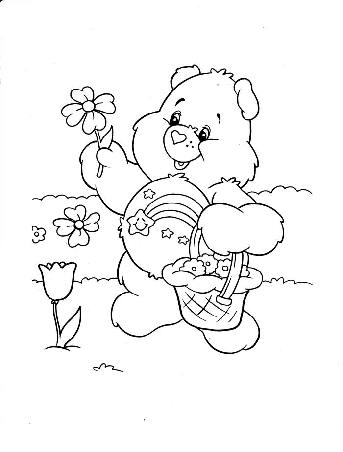 Printable Care Bear Coloring Pages