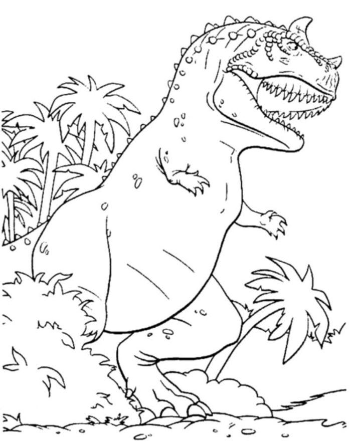 Printable Coloring Pages Dinosaurs