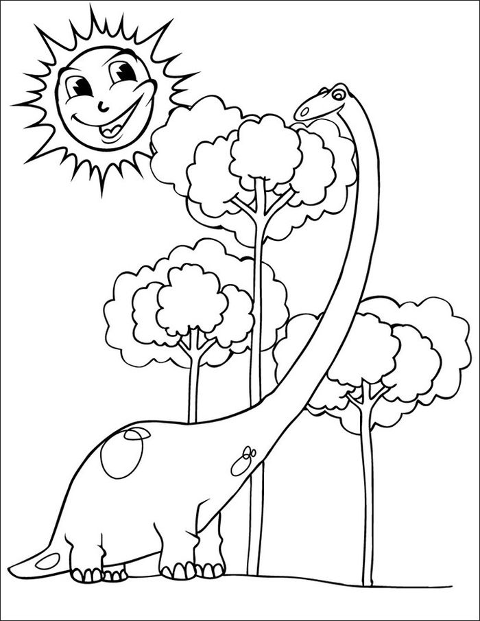 Printable Coloring Pages Of Dinosaurs