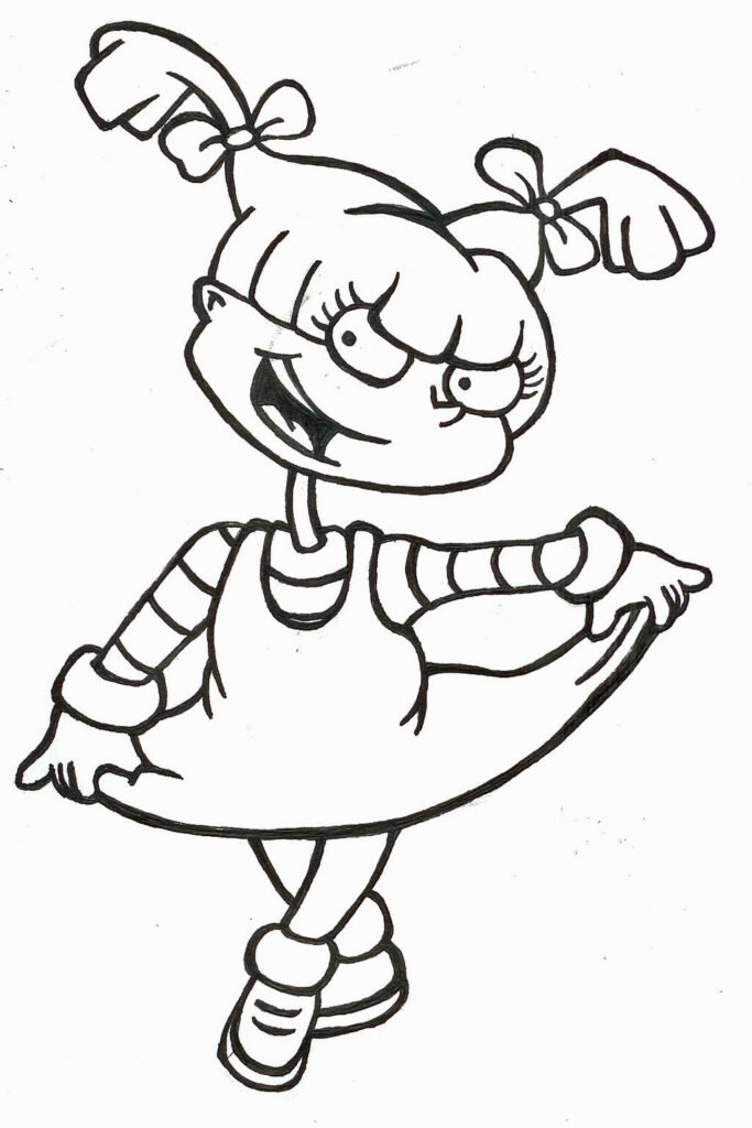 Rugrats Angelica Coloring Pages