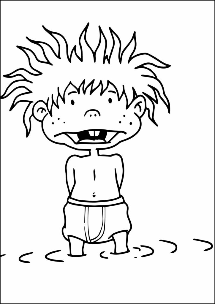 Rugrats Chuckie Coloring Pages