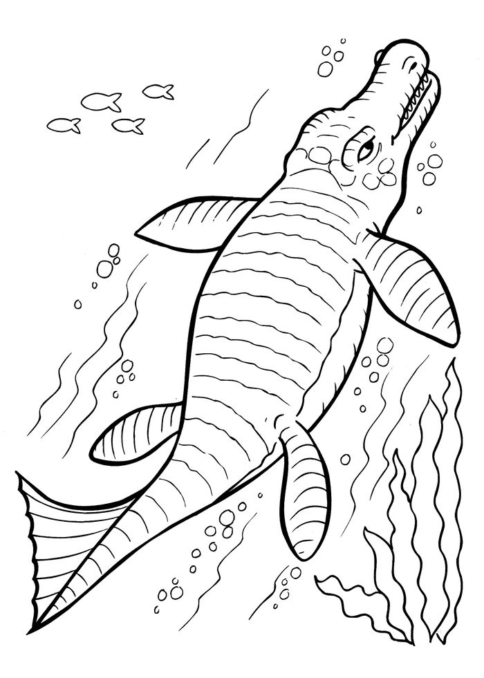 Sea Dinosaurs Coloring Pages