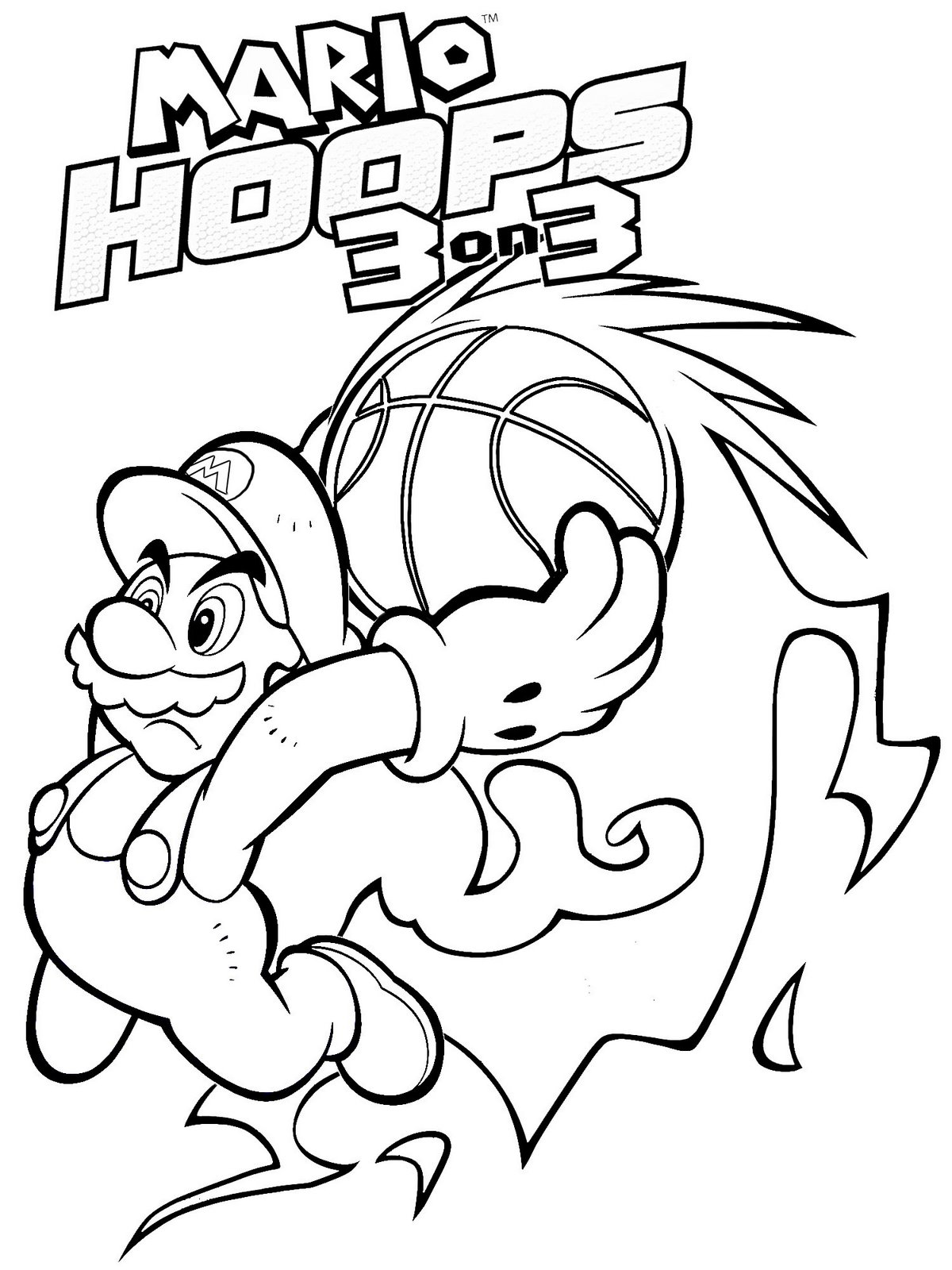 Super Mario 3d World Coloring Pages