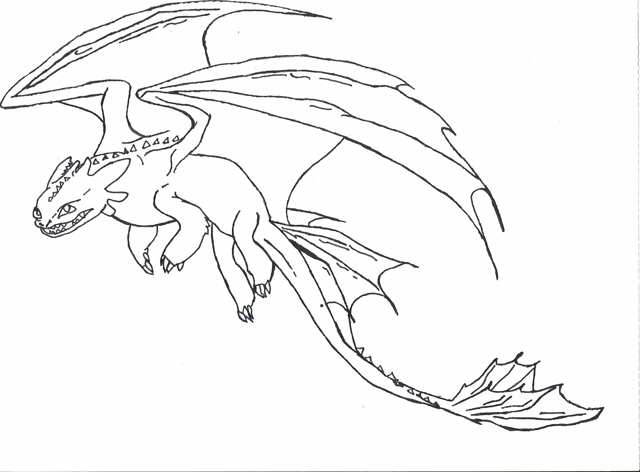 Toothless How To Train Your Dragon Coloring Pages