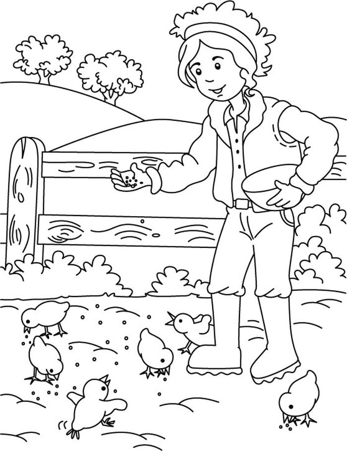 Winter Farm Animal Coloring Pages