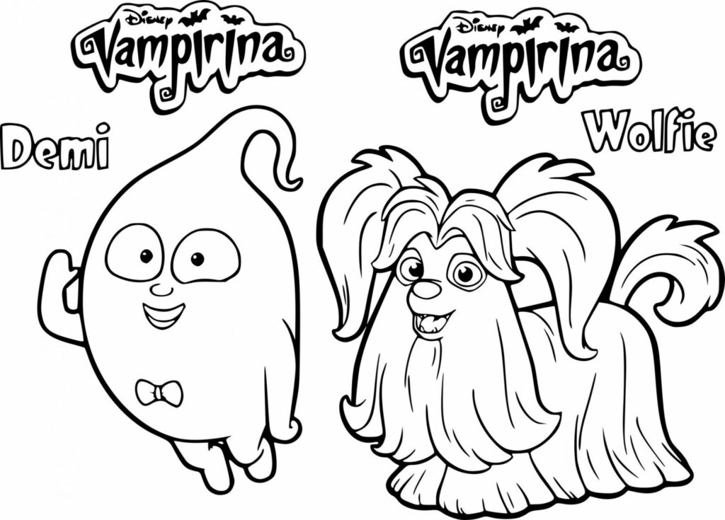 vampirina coloring pages to do online