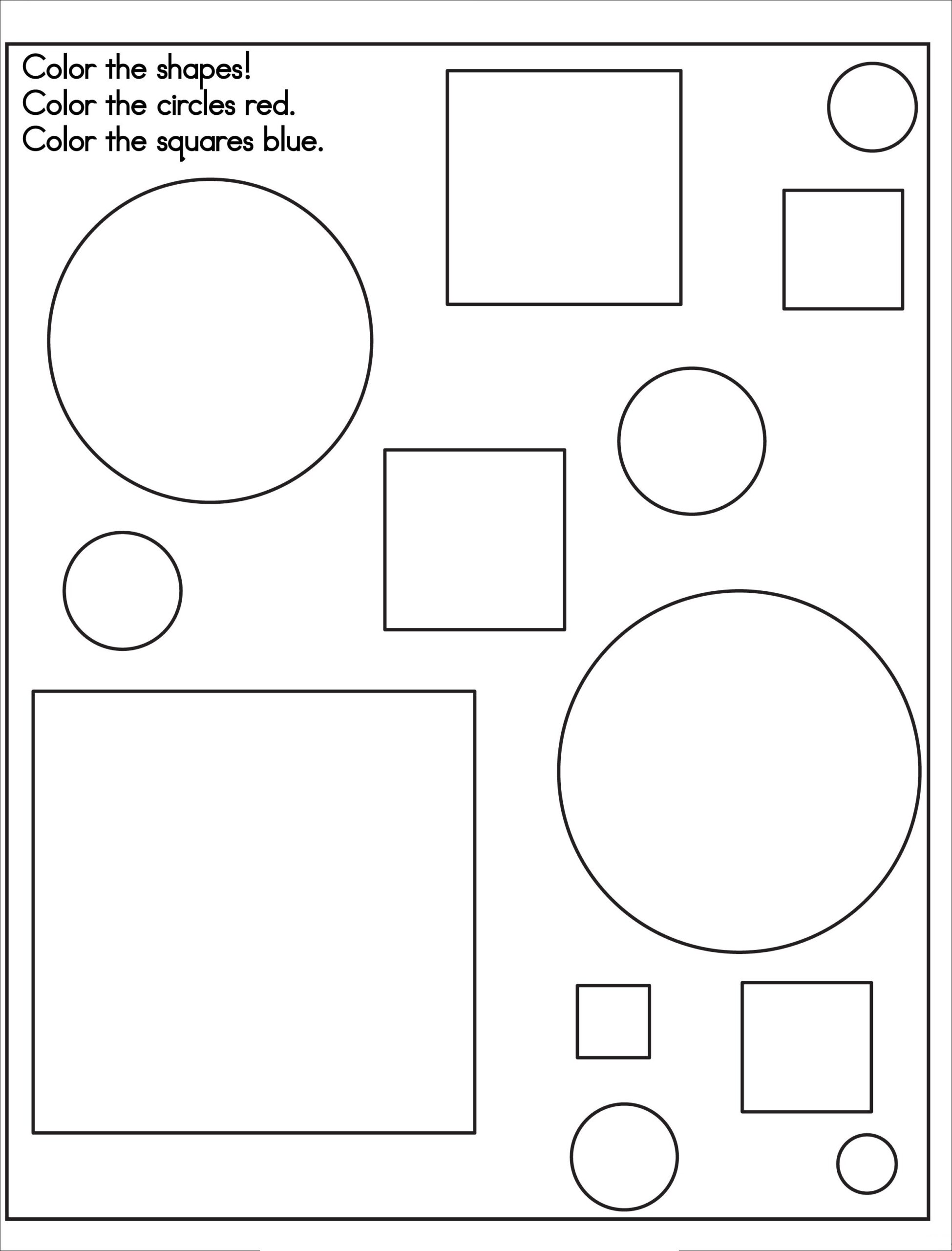 Basic Shapes Coloring Pages