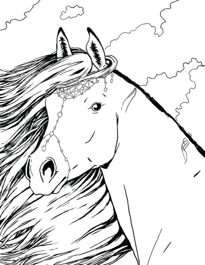 Beautifu Coloring Horse Pages
