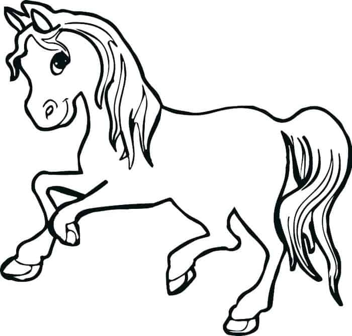 Beautiful Horse Coloring Pages For Kids