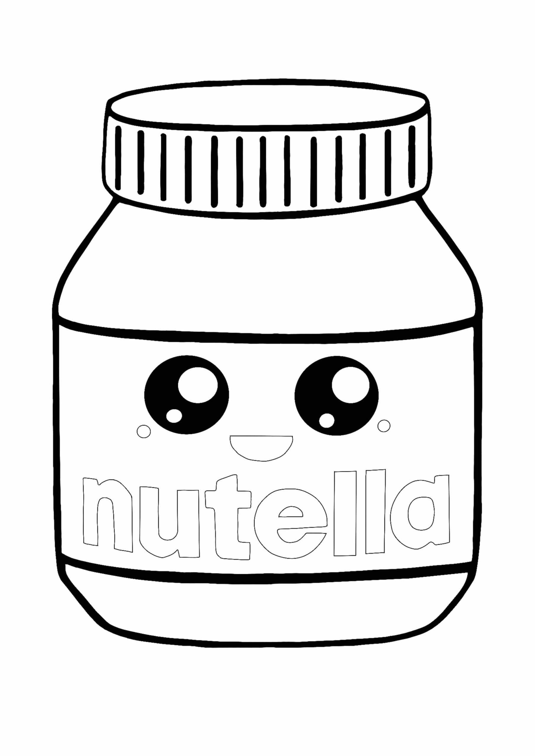 Coloring Pages Cute Food