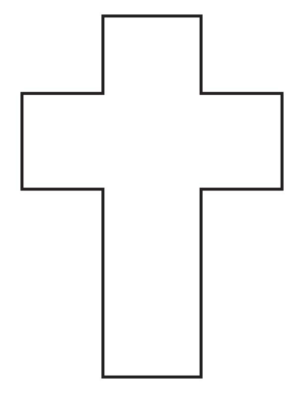Coloring Pages For The Shape Cross