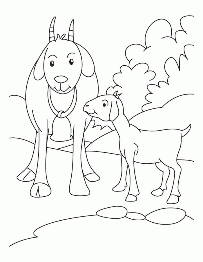 Coloring Pages Of A Goat