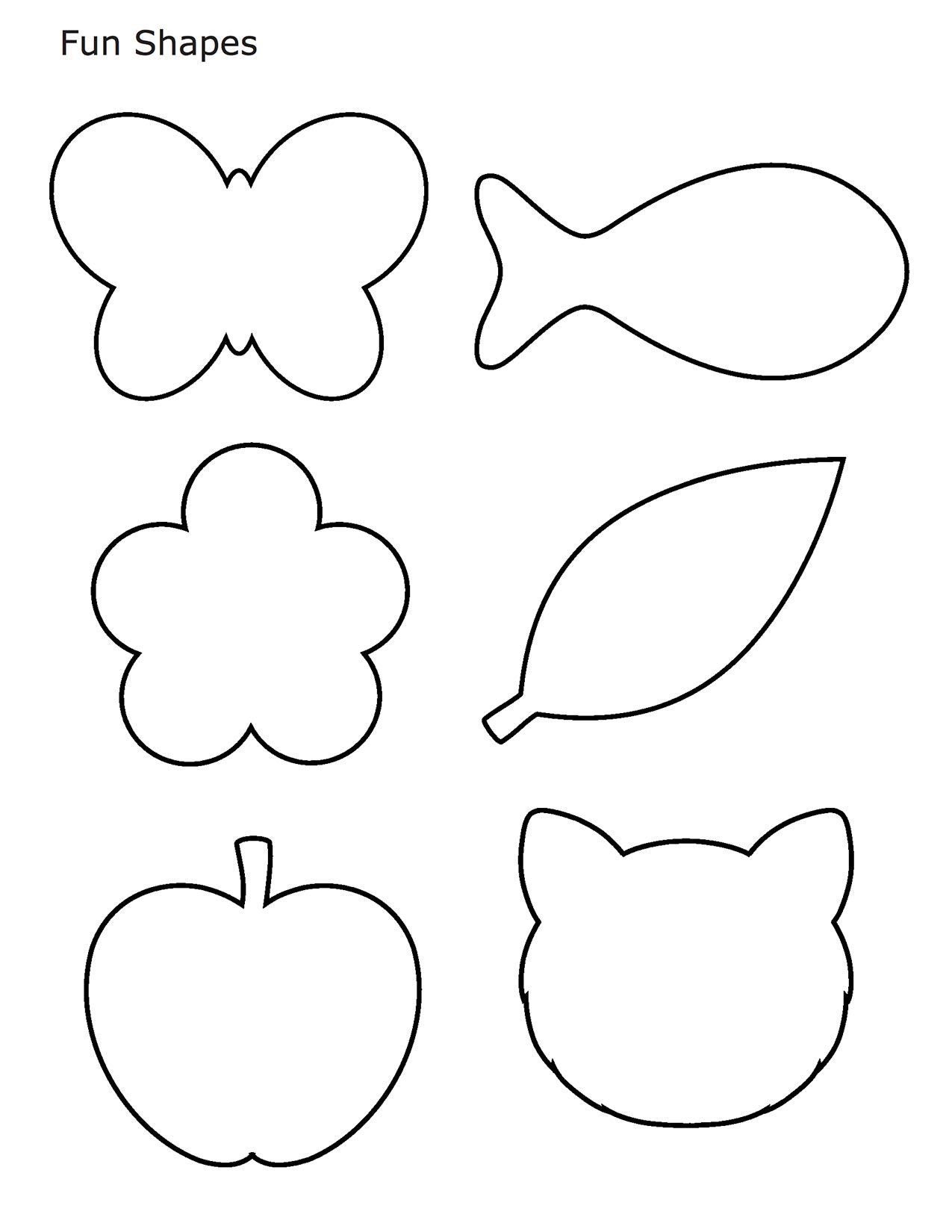 Different Shapes Coloring Pages