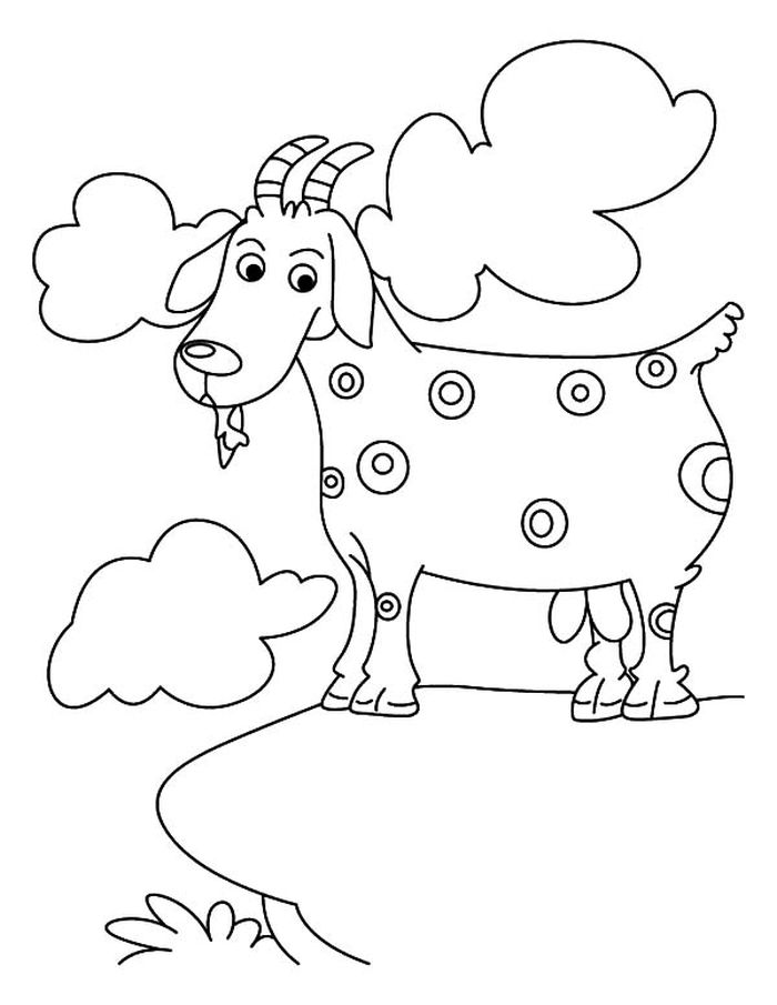 Free Goat Easter Coloring Pages