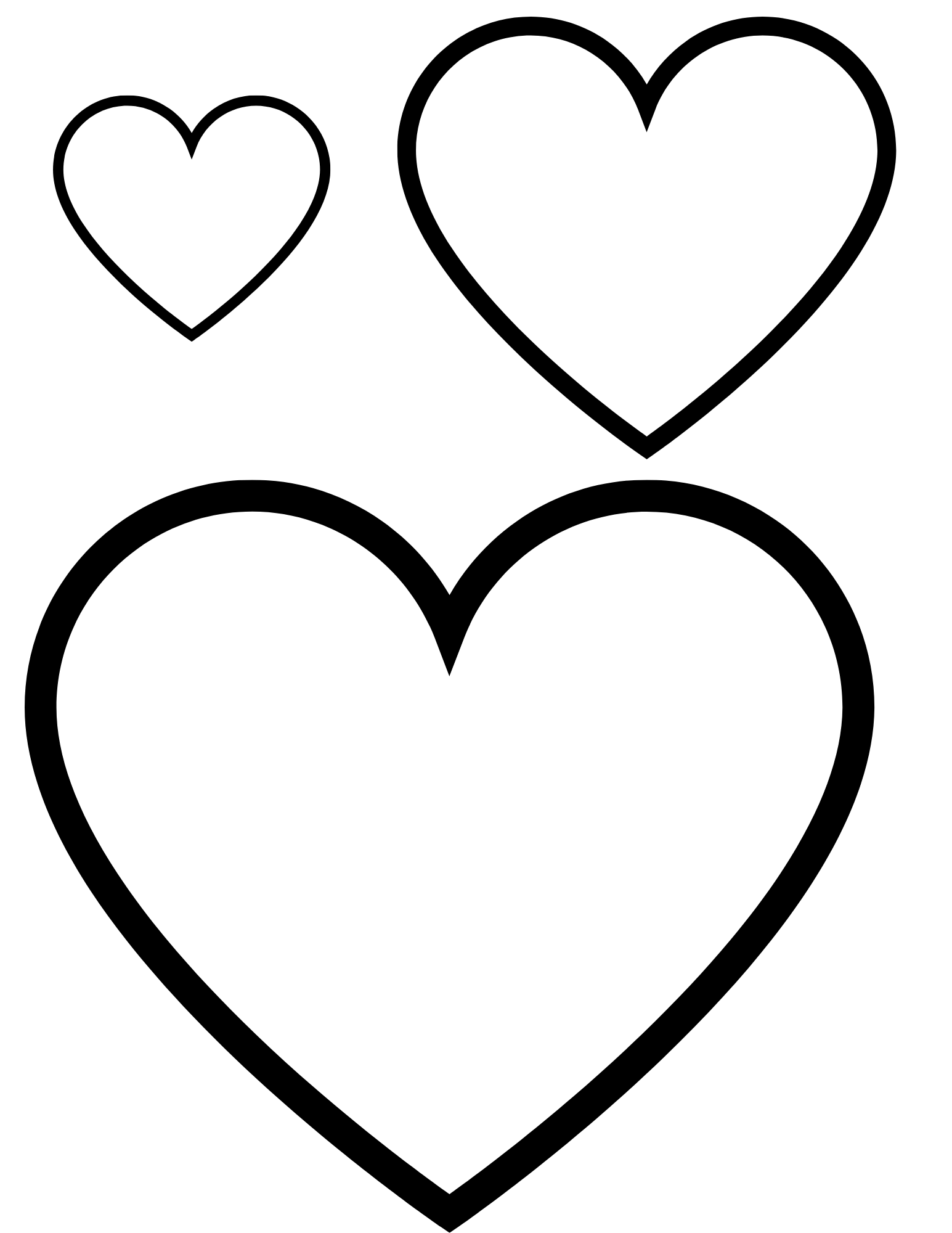 Free Heart Shape Coloring Pages