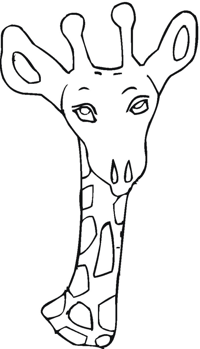 Free Kids Printable Coloring Pages Giraffe