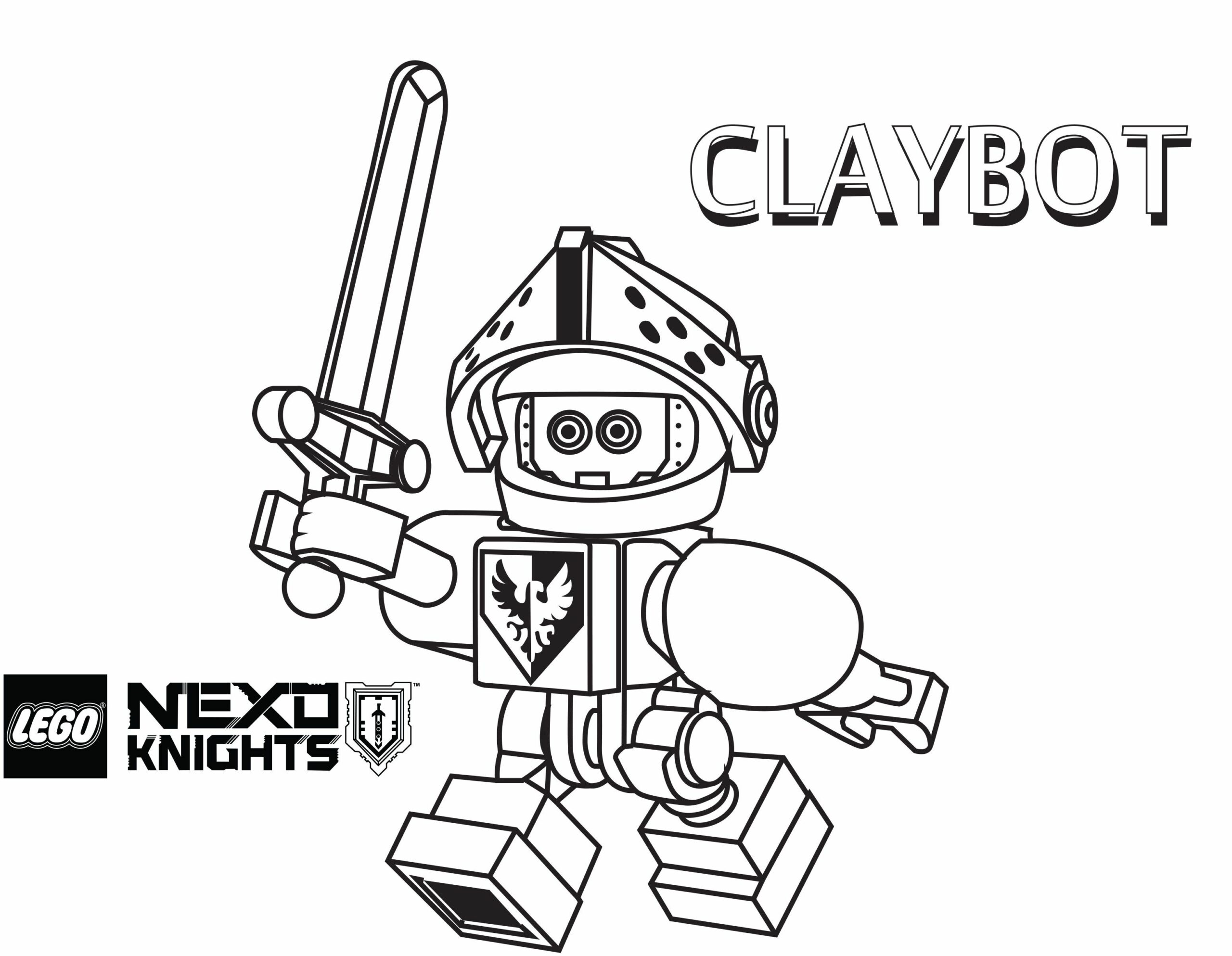Free Lego Nexo Knights Coloring Pages