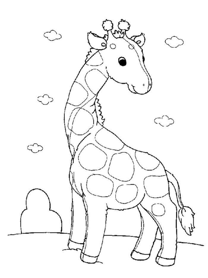 Free Printable Giraffe Coloring Pages