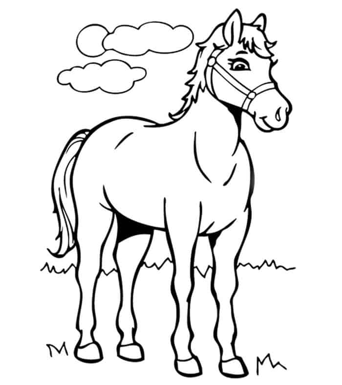 Free Printable Horse Coloring Pages