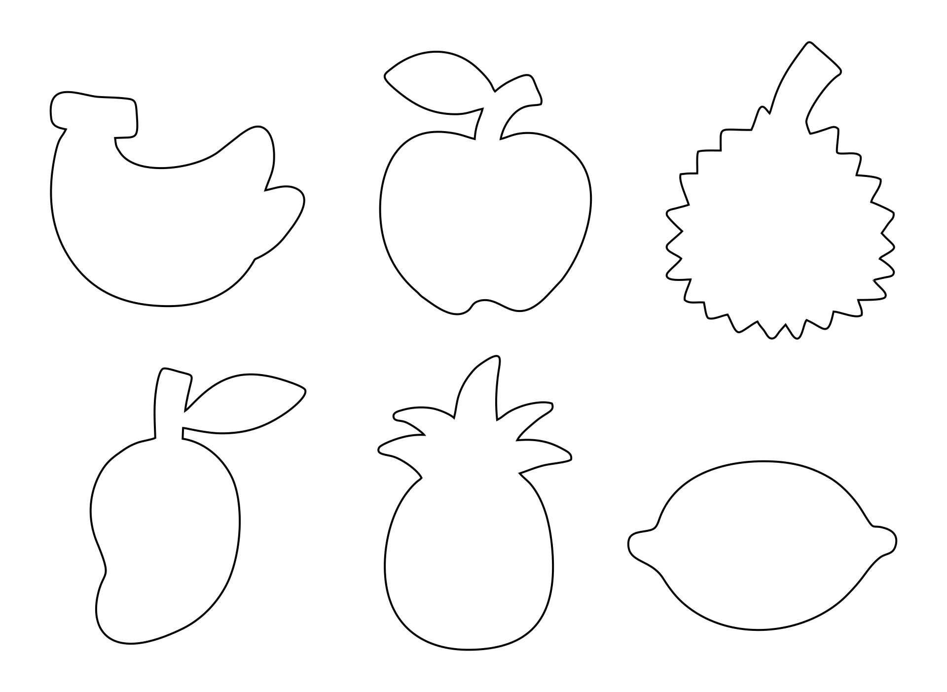 Fruits Shapes Coloring Pages