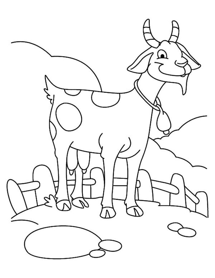Goat Printable Coloring Pages