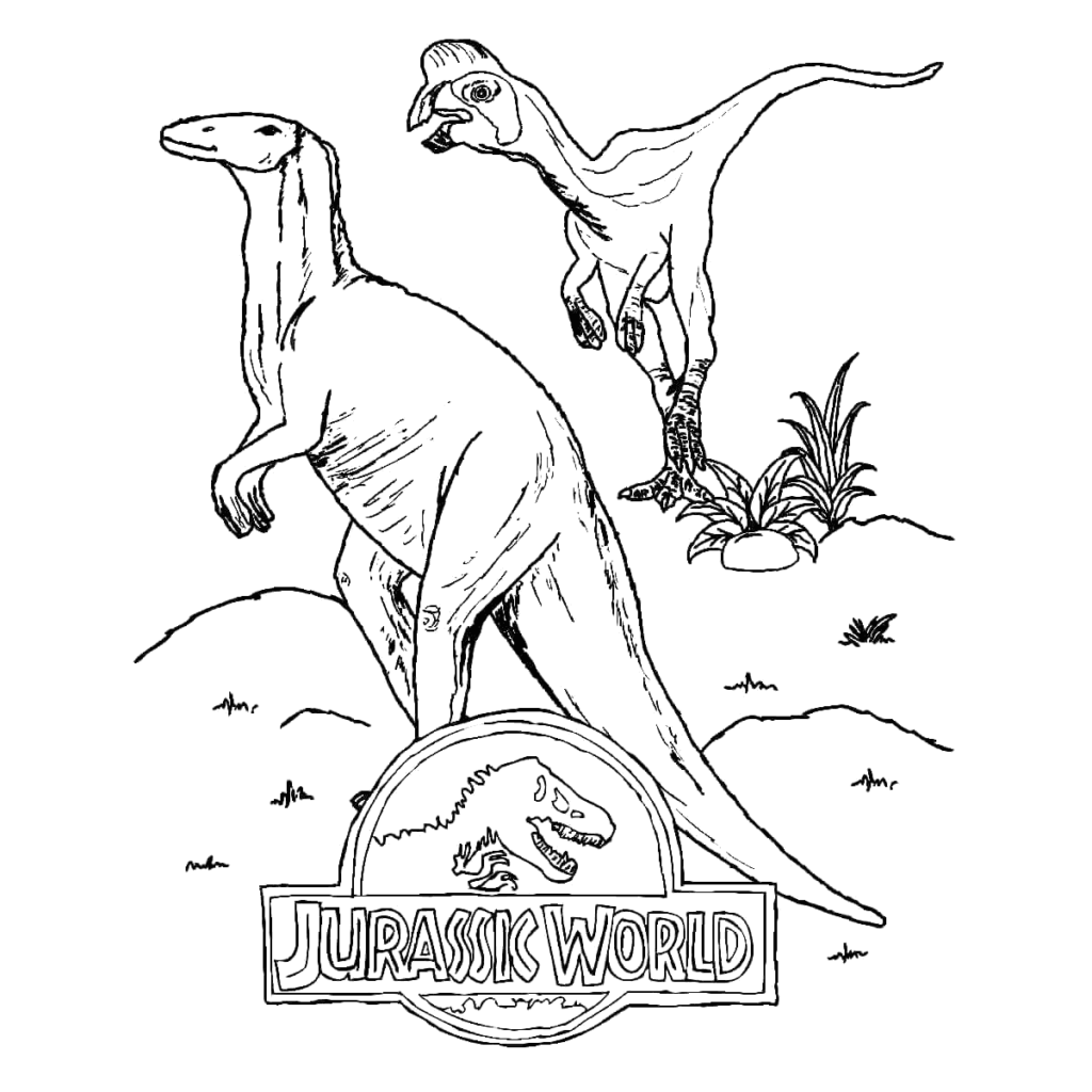 Jurassic World 2 Coloring Pages