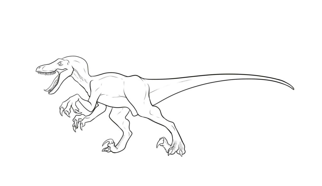 Jurassic World Blue Coloring Pages 1