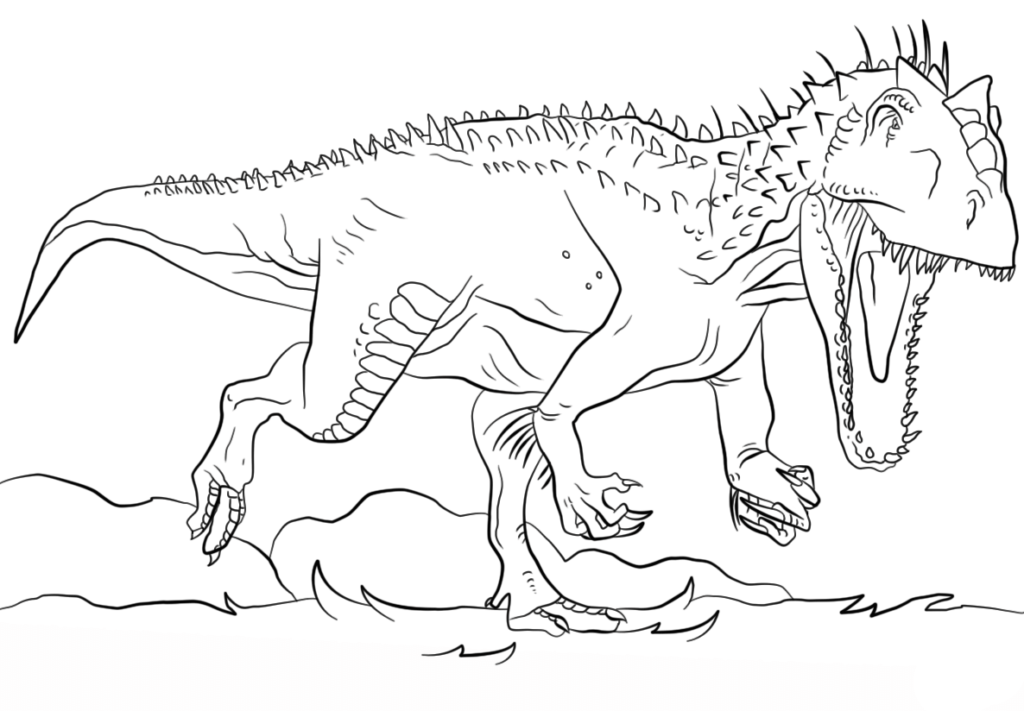 Jurassic World Coloring Pages Free